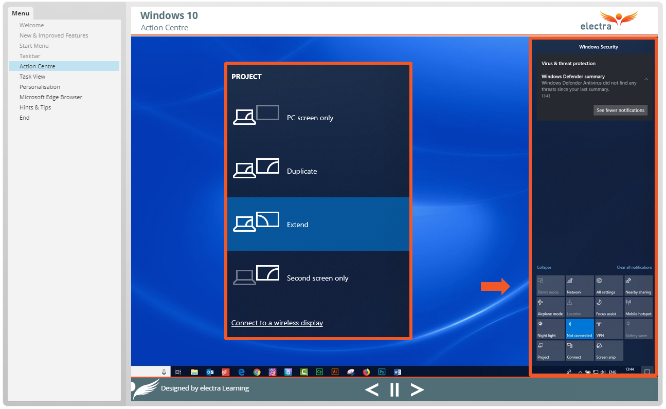 Windows 10 - Action Centre