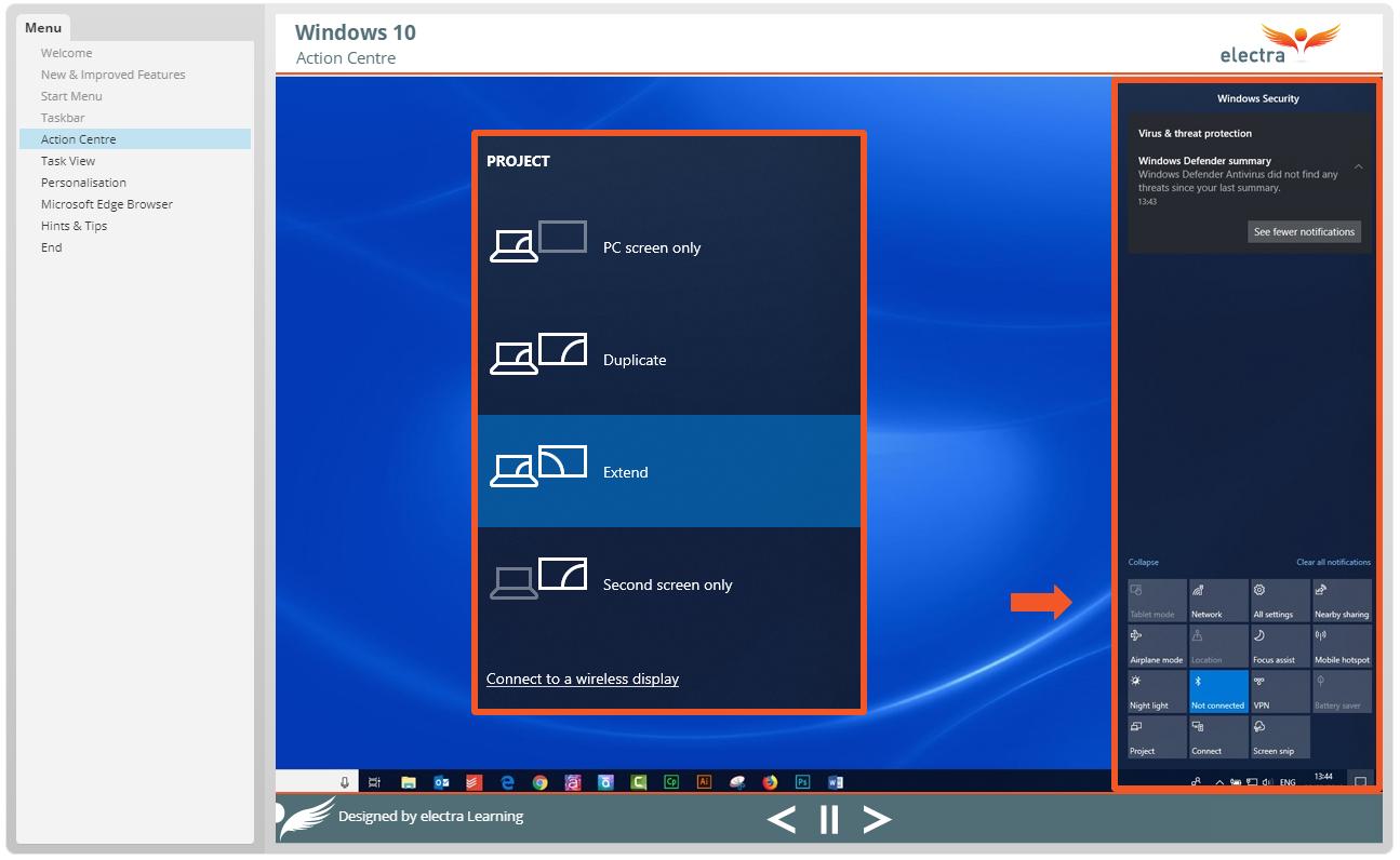 Windows 10 - Action Centre