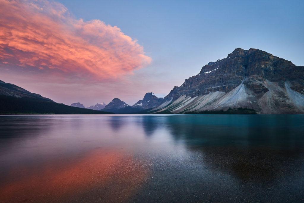 Bow-Lake-at-Sunset