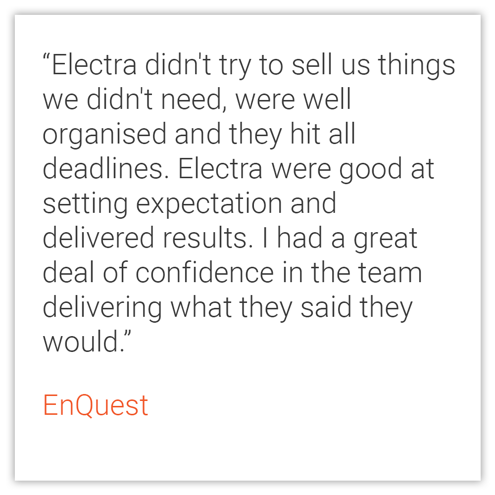 EnQuest Testimonial (Home Page)