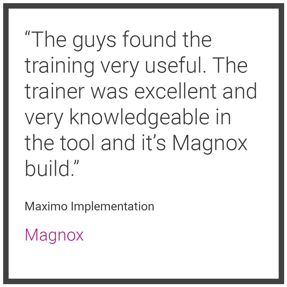 IBM Maximo Testimonial 7 - Magnox