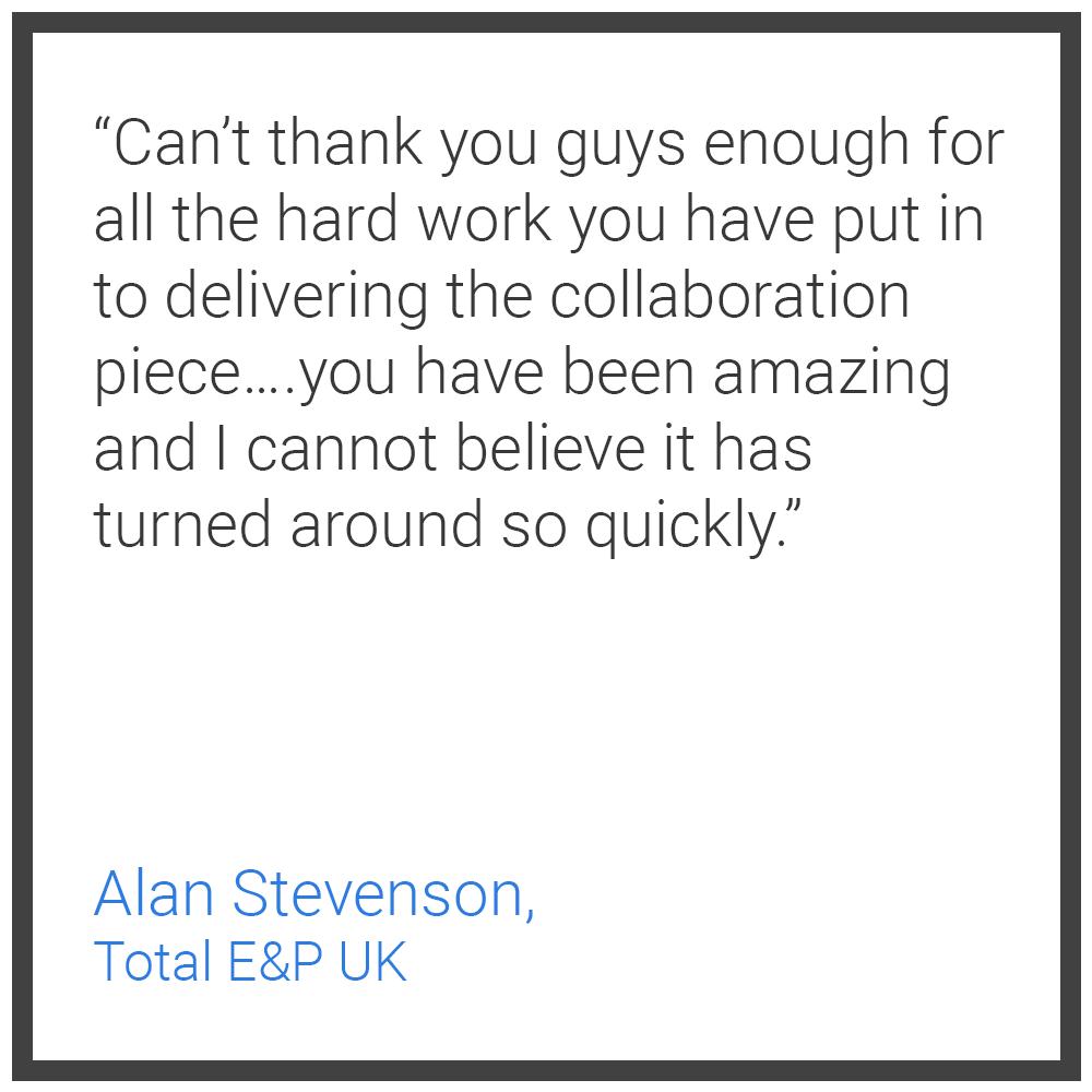 Testimonial 1 - Alan Stevenson Total E&P UK