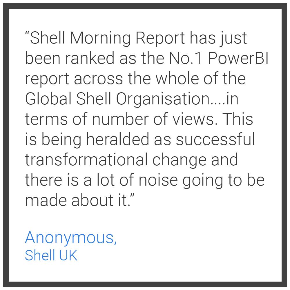 Testimonial 2 - Anonymous Shell UK