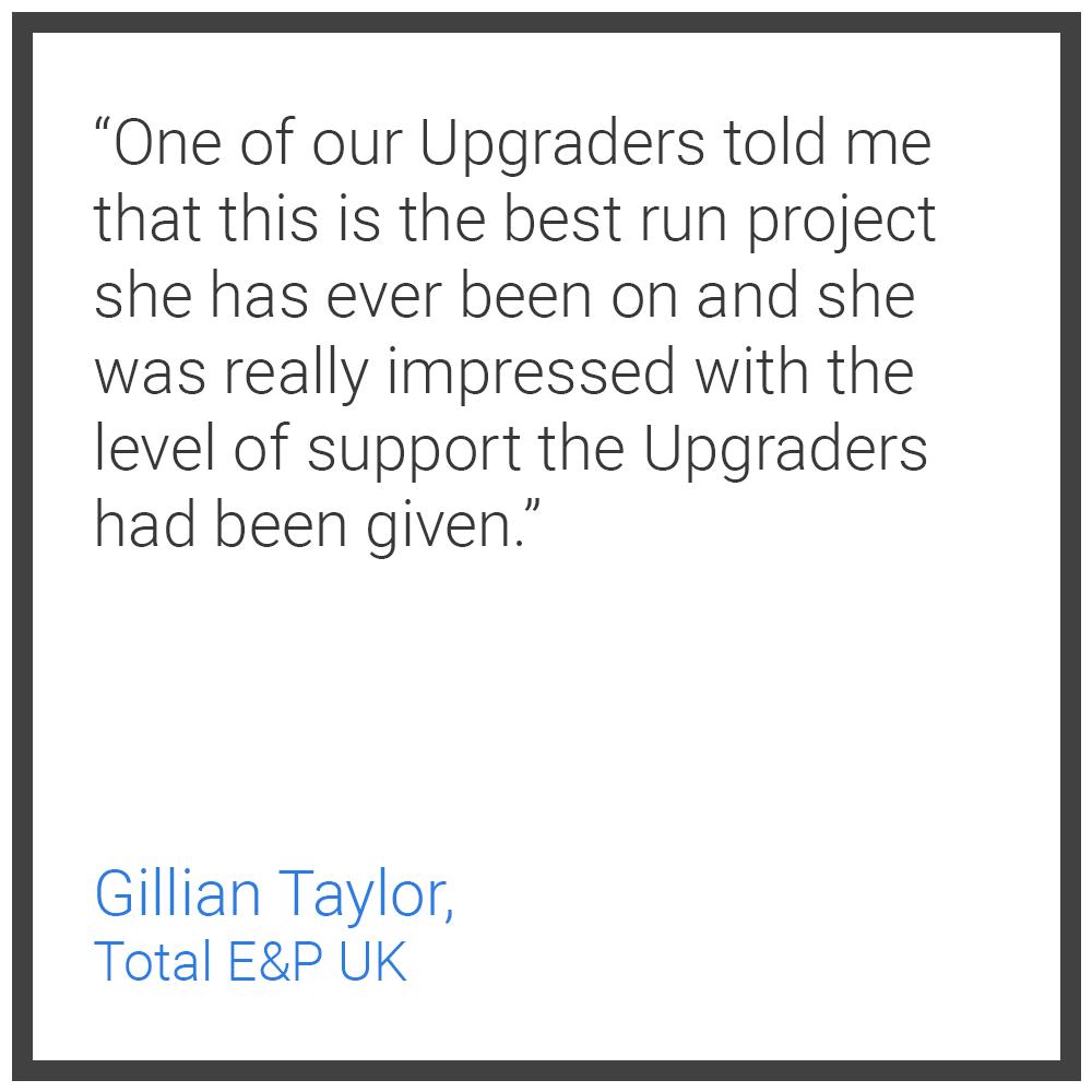 Testimonial 3 - Gillian Taylor Total E&P UK