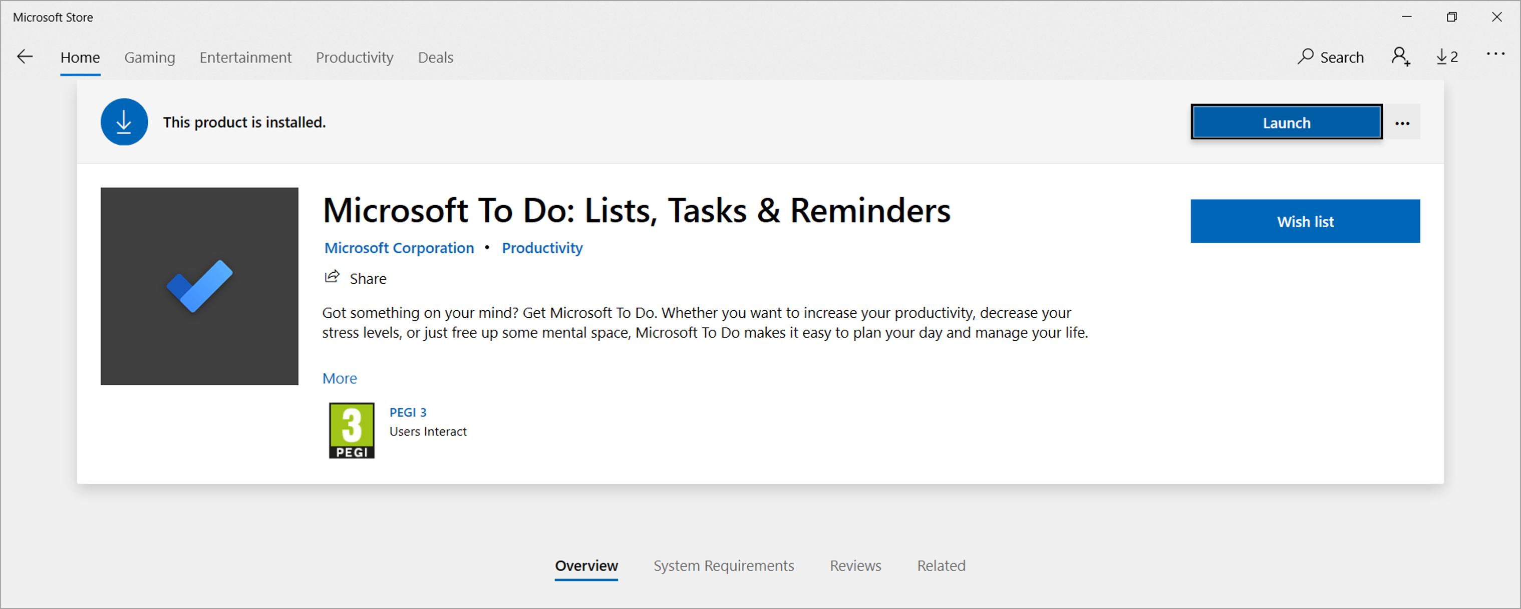 The To Do Desktop App