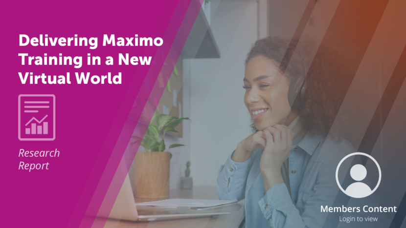 Delivering Maximo Training in a New Virtual World